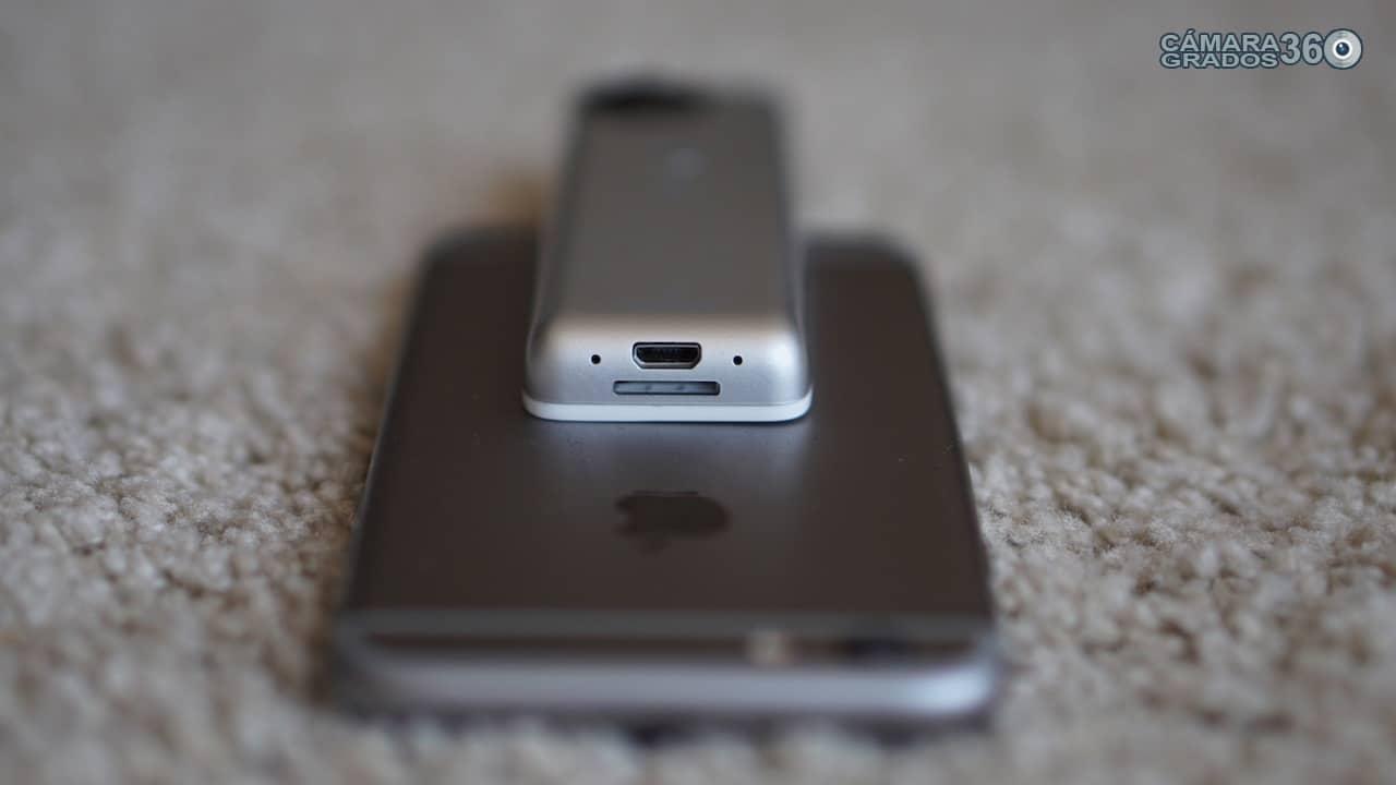 Insta360 Nano S con iPhone 6