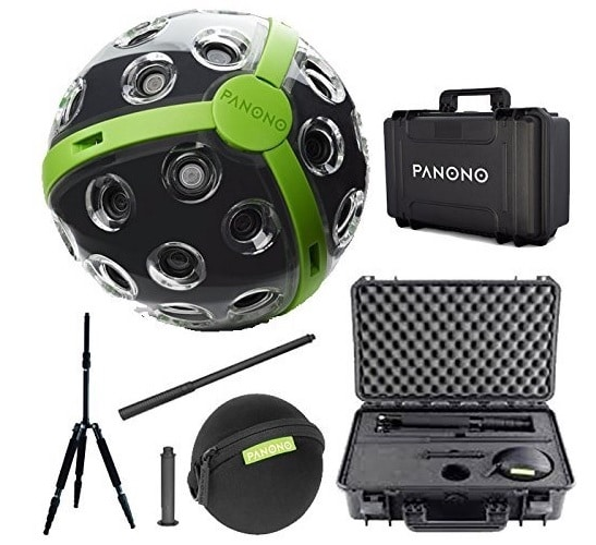 Câmera 360 profissional com tripé